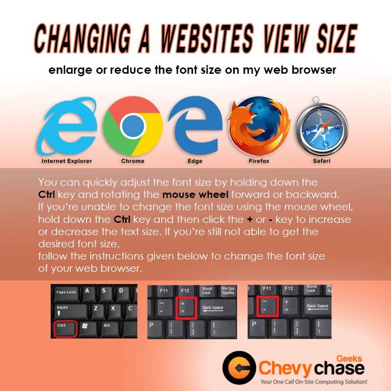 Changing A Website's View Size - Best Computer Repair in Chevy Chase